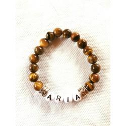 bracelet prénom en pierres naturelles