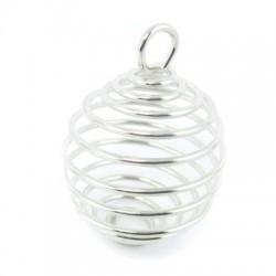 Spirale cage ressort pierres