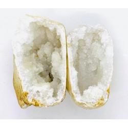 demie géode cristal de roche