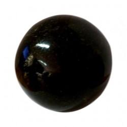 Sphère obsidienne dorée