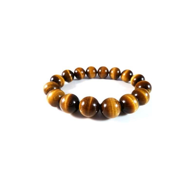 bracelet homme oeil de tigre 12 mm