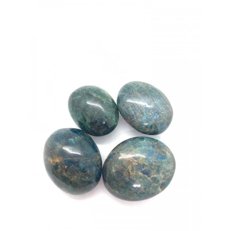 galet apatite bleue et verte