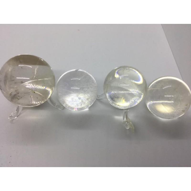 cristal de roche sphère boule